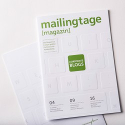 Covergestaltung: mailingtage magazin